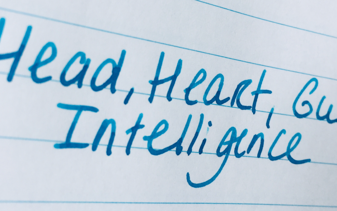 3 Intelligences: Head, Heart and Gut